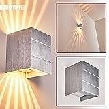 Wandleuchte mit tollen Lichteffekten - Wand Lampe mit G9-Fassung - Wandspot aus Metall in Alu Matt - Wohnzimmer Wandleuchte - Leselampe Wand