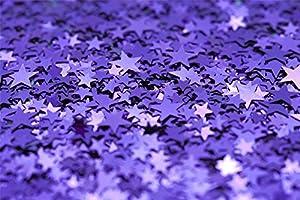 Shatchi CONFETTI-STAR-PURPLE-8PK 8 paquetes de confeti de estrellas moradas con purpurina para decoración de bodas, cumpleaños, bautizos, aniversarios, fiestas