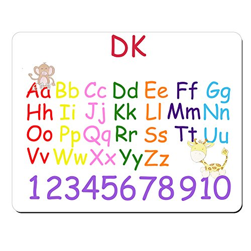 DK - Personalised Kids Alphabet and Numbers Educational Premium Mouse Mat (5mm Thick).