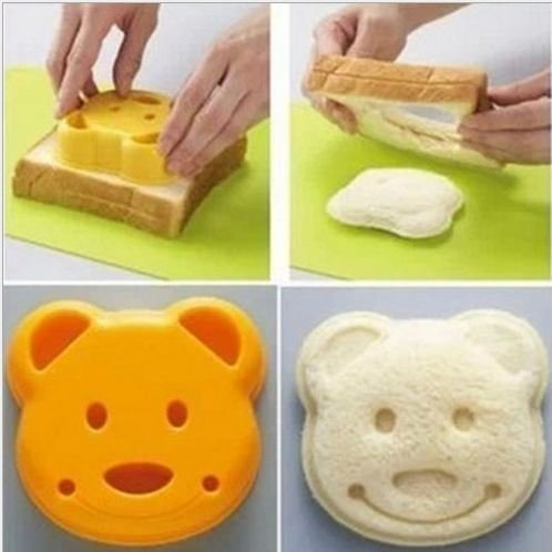 Lanlan Cutter Tool Kit Home Decor 1 PCS DIY Cute Bear Sandwich Brot Dessert Reis Toast Stempel Form Körper Formen Draht