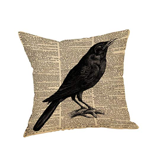 VEMOW Happy Halloween Kissen Hom Party Dekoration Fällen Crow Leinen Sofa Kissenbezug Home Decor 18
