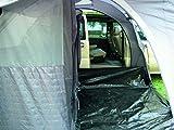 EXPLORER Zelt Tunnelbuszelt Riva Deluxe 2 mit Schlafkabine 345x315x205cm (Schlafkabine: 230x140x205cm) 2 Personen 5000mm Wassersäule Regenrinnenhöhe ca. 170-210cm 4 Türen wettergeschützter Eingang Camping Outdoor Wandern Familie -