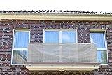 Smart Deko 700x90cm Grau Balkonsichtschutz, Balkonverkleidung, Windschutz, Sichtschutz und UV-Schutz für Balkon, Gartenanlagen, Camping und Freizeit (700x90cm)