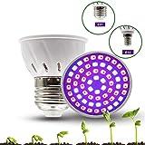SAMTITY Bombillas de Cultivo LED, Lámpara de Cultivo de Espectro Completo, Casquillo E27 E14 Luces...
