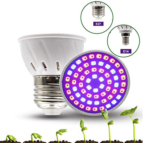 SayHia E14 5W LED Pflanzenlampe Birne Licht Wachstum Vollspektrum Grow Lamp für Zimmerpflanzen Blumen und Gemüse - Wachsen 3x4 Zelt