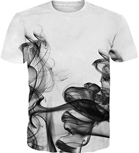 Idgreatim Frauen Männer 3D Printed Tintenfisch T-Shirts (Hals Tier)