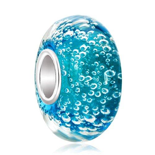lovelyjewellery blau Blasen Murano Glasperlen Verkauf Günstige Charms für Pandora Charm Armbänder