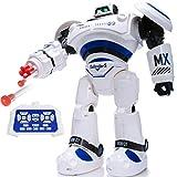 SGILE Groß Ferngesteuerter Roboter Spielzeug für Kinder, Intelligent RC Roboter mit LED Licht und Musik, Programmierbar RC Kampf Robot für Kinder Jungen Mädchen Geschenk Blau