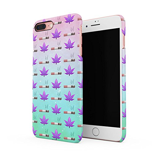 Dope As Fuck Cannabis Leaves Dünne Rückschale aus Hartplastik für iPhone 7 Plus & iPhone 8 Plus Handy Hülle Schutzhülle Slim Fit Case cover Cigarettes