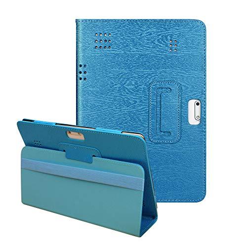 YA-Uzeun Universal-Schutzhülle aus Leder mit Standfunktion für 25,4 cm / 10,1 Zoll Tablets, universal, ausklappbarer Ständer, veganes Leder, Android Tablet PC Blue 103