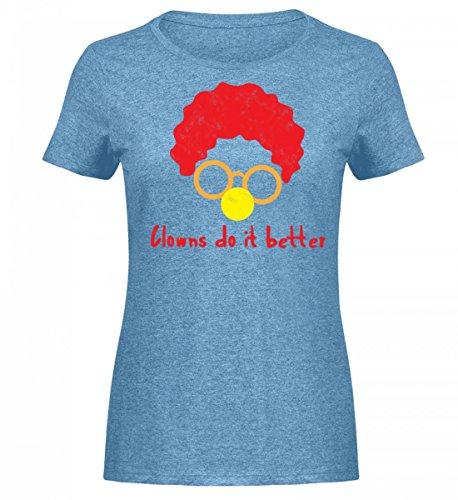 rtiges Damen Melange Shirt - Clown - Zirkus - Geschenk - Karneval - Kostüm - Circus - Gift: Clowns Do It Better (Zirkus Kostüme Ideen Für Männer)