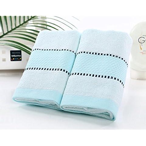 LY&HYL Set di asciugamani regali tre super morbido bambù fibra magazzino bagno asciugamani , light blue, , 34*76cm 70*140cm
