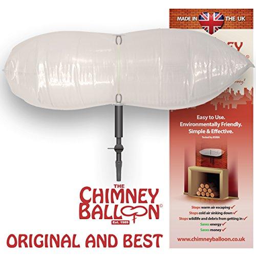 "Chimney Balloon Kit (Medium) for Chimneys up to 24""x12""/60cmx30cm + FREE TUBE"