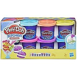 Play Doh - Pate A Modeler - 8 pots Pate Play Doh Plus - 56 g chacun