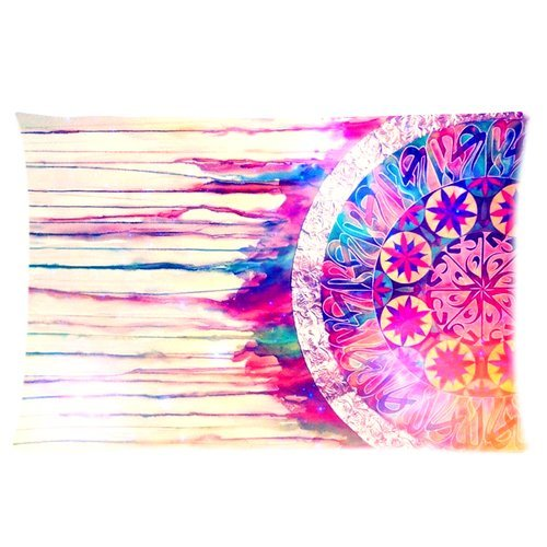 Colorful Dream Catcher Custom Rectangle Pillowcase Pillow Cases Cover 16x24 (one side) Standard Size Cloud Feather Catcher take a Leap of faith and commit fully to what you really want go for it Quotes