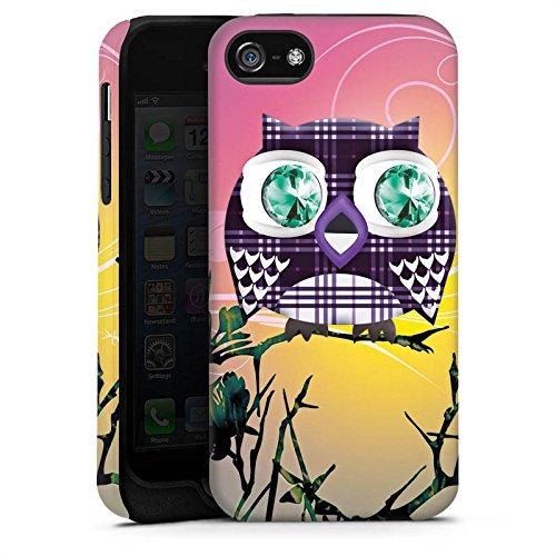 Apple iPhone X Silikon Hülle Case Schutzhülle Eule Eulen Muster Tough Case matt