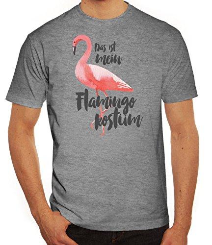 rkleidung Herren T-Shirt Gruppen & Paar Kostüm Das ist Mein Flamingo Kostüm 2, Größe: XXL,Graumeliert (2 Gruppe Kostüme)