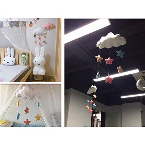 LUOEM Kinderzimmer Dekoration Wolken Regentropfen Hängende Deko Babyparty - 2
