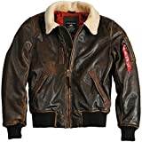 Alpha Industries Herren Injector III Leather (L, Vintage Brown)