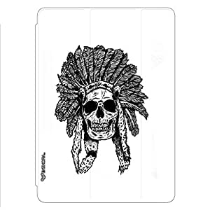 "Enthopia Designer Front Smart Cover Red Indian Skull Back Cover for Ipad Pro 12"" with Transparent Back Case"