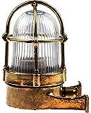 Stega Schiffslampe schiffsleuchten Gitter lampe aus massivem Messing wasserdichte Leuchter Licht lampe Nautische Marine Boot Wandlampe Industrielicht