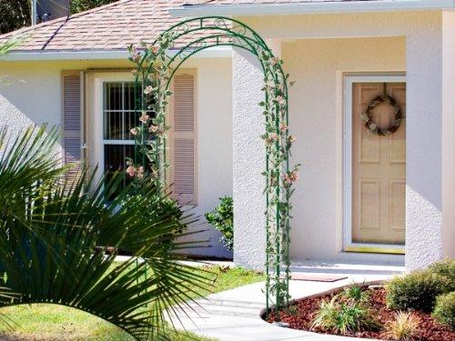 Pergola double Rose Arch en arc verte
