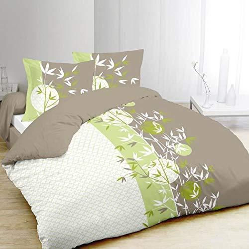 Bettbezug 220x240 + 2 Kissenbezüge Zenya 100%Baumwolle - Home Visions-set Bett
