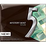 Wrigley's 5 Mystery Mint Maze Sugar Free Gum 15 Sticks, (Pack of 2) 41g