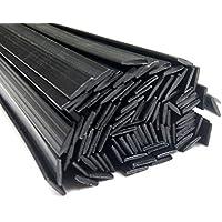 Filo saldatura plastica PC 8x1mm Piatta Nero 25 barra