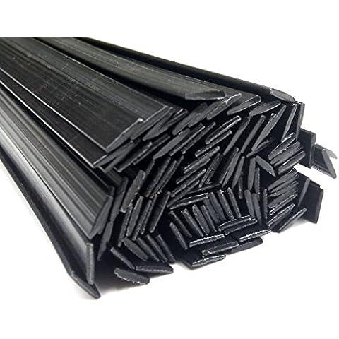 Alambre de soldadura de plástico PC 8x1mm Plano Negro 25 barra