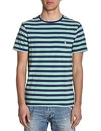 Ralph Lauren Homme XZ7TTXY7TTXW7KB Bleu/Vert Coton T-Shirt