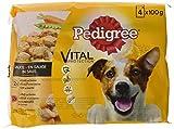 Pedigree Vital Protection/Hochwertiges Hundefutter mit Huhn, Rind und Gemüse in Sauce / 52 Beutel (13 x 4 x 100 g)