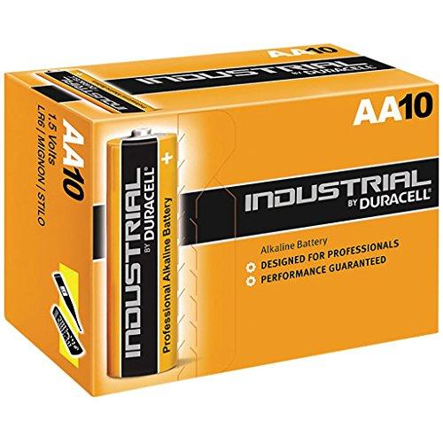Piles Alcalines Duracell Industrial. Boîte de 10