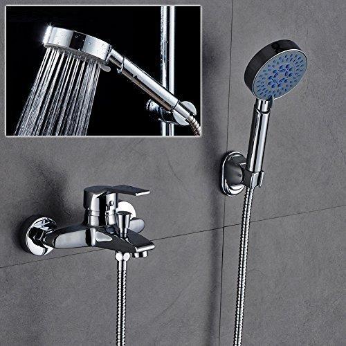 Elegant Überkopf Badewannenarmatur set mit Multifunktion Handbrause Duschkopf Dusch Set für Badezimmer