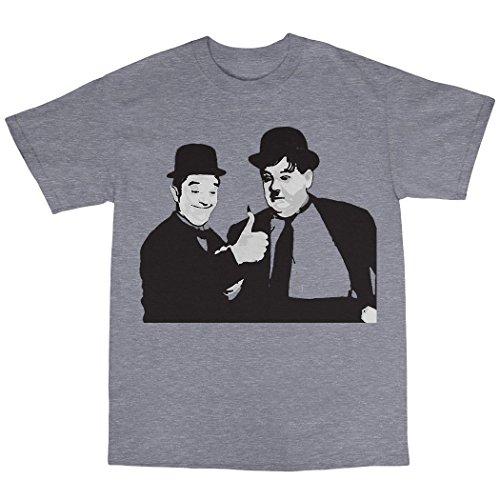 Laurel & Hardy T-Shirt Baumwolle Grau