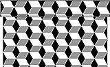 Sovie Home Tischläufer Chicago / Linclass® Airlaid Tischläufer 40 cm x 4,8m / Tischdecken-Rolle stoffähnlich / Einmal-Tischdecke für Hochzeit & Partys (Silber-Schwarz)