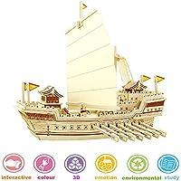 Lychee 3D Kit Costruzione Puzzle di Legno Puzzle, Nave Modello Fai da Te Nave antica-BA504