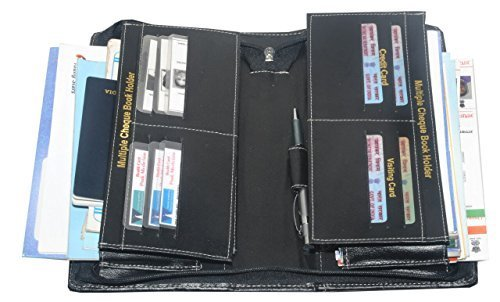 Pareek-Expanding-Cheque-Book-Holder-Travelling-Document-BagSet-Of-12Black