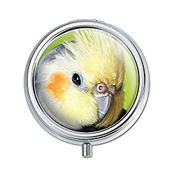 Graphics and More Cockatiel Bird Pet Pill Case Trinket Gift Box