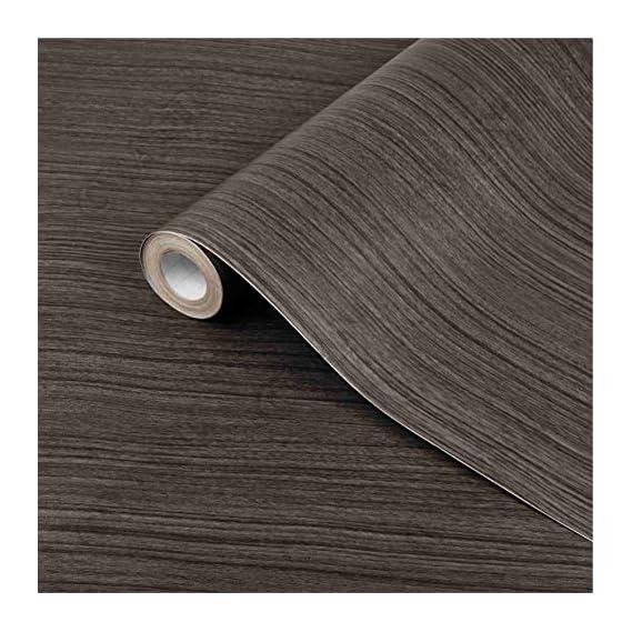 CVANU Self Adhesive Wood Vinyl Wallpaper Waterproof Old Furniture Vinyl Stickers Wooden Door Wardrobe Desktop PVC Wall Paper