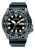 Citizen Herren Analog Automatik Uhr mit Kautschuk Armband NH8385-11EE