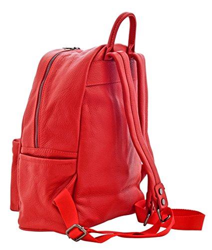 LICIA Sacs Femme Sacs Portés Dos Sacs Portés Épaule Vrai Cuir Fabriqué Italie Artisanale Rouge