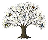 Beautiful Tree With Butterfly Metal Wall Art Sculpture Decor