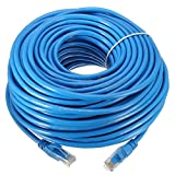 Link-e : Cable reseau bleu ethernet RJ45 30m CAT.6 qualité pro, connexion internet Box, TV, PC, routeur, switch, consoles...