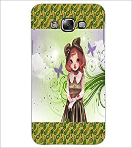 PrintDhaba Cute Girl D-2472 Back Case Cover for SAMSUNG GALAXY A7 (Multi-Coloured)