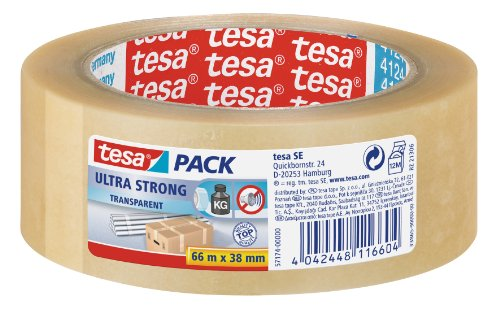 tesa Packband PVC 66 m x 38 mm transparent ULTRA STRONG