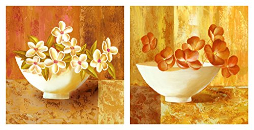 tang-dynastytm-2-panels-modern-giclee-artwork-canvas-prints-contemporary-abstract-yellow-white-flowe