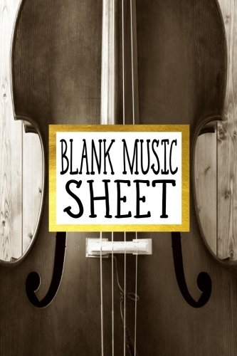 Blank Music Sheet: Manuscript Paper 8 Stave Music Journal Piano Guitar 6x9, 100 pages: Volume 1 por Alia Leone