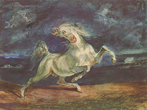 Lais Puzzle Eugène Ferdinand Victor Delacroix - Vor dem Blitz scheuendes Pferd 200 Teile