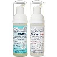 Vital Innovations 03310 Clenasation 3-Set da viaggio Set benessere al tè verde + sapone disinfettante